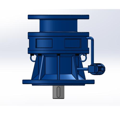 新型摆线TBLK电机自配法兰型单级立式针轮减速机
